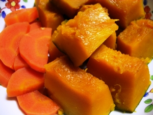 圧力鍋でかぼちゃの煮物!