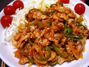 豚肉と野菜のケチャップ炒め